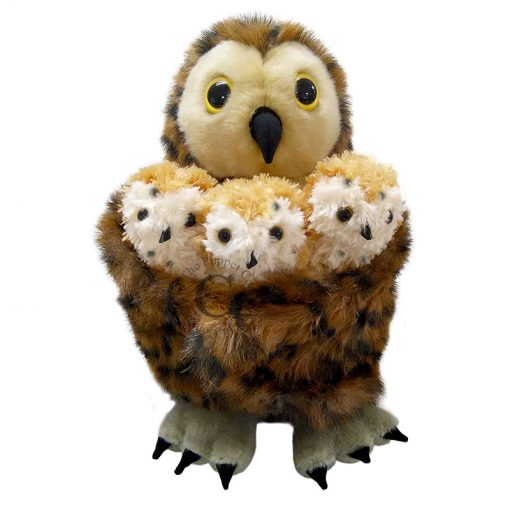 Tawny Owl Hideaway Hand Puppet