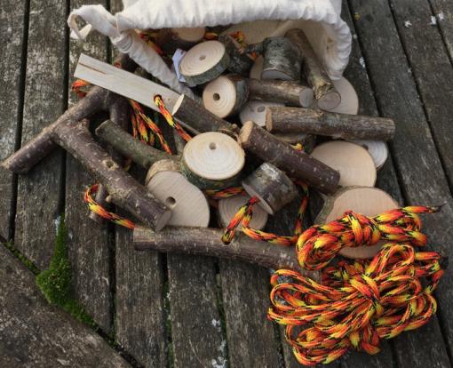 50 drilled sticks and stumps threading set