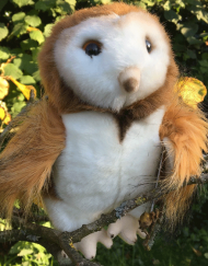 Plush Soft Barn Owl Toy